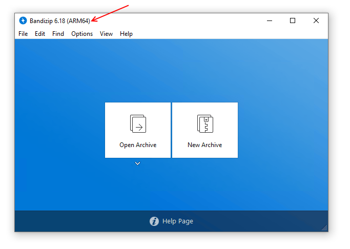 Bandizip - Bandizip on Windows 10 on ARM