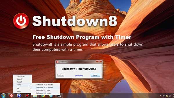 how to make a shutdown application
